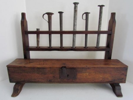 Must Unusual 18th. Century Candle Mold Stand