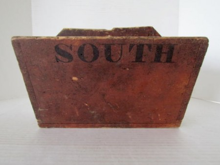 19th. century New England Painted Wall Box