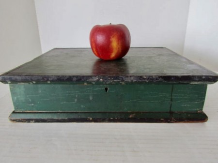 19th. century Seed Box in the Best Green Paint