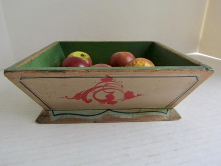 Mid 19th. century Painted Apple Box