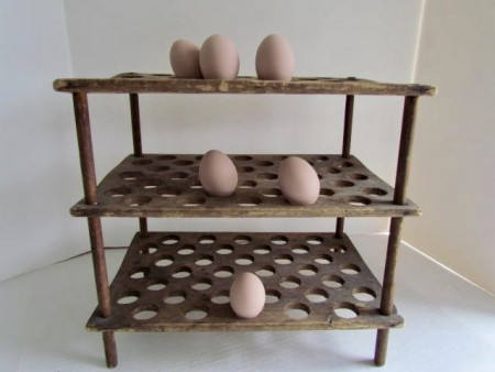 19th. century Country Store Egg Rack