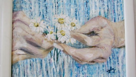 """Oil on Board """"My Mother's Hands"""""""