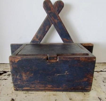 Unusual Blue Wall Box, American, Southern