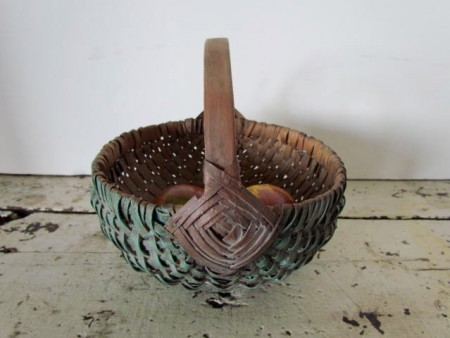Wonderful 19th. century Painted Small Basket