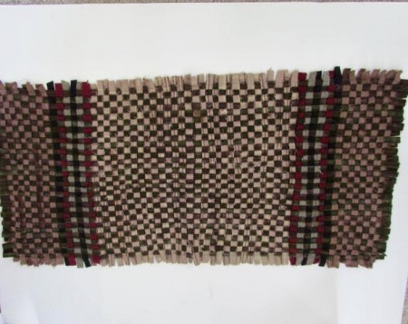 19th. century Woven Table Rug