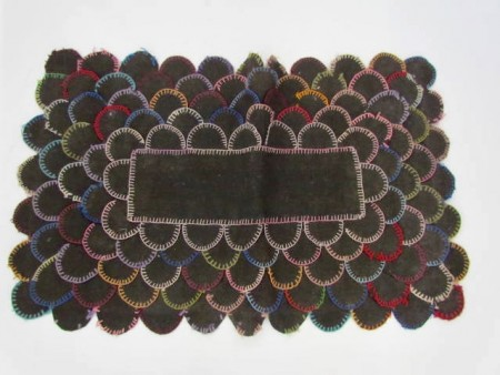 19th. century Colorful Penny Rug