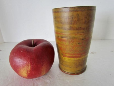 18th. century Treen, Treenware Cup/Beaker, Original Paint and American
