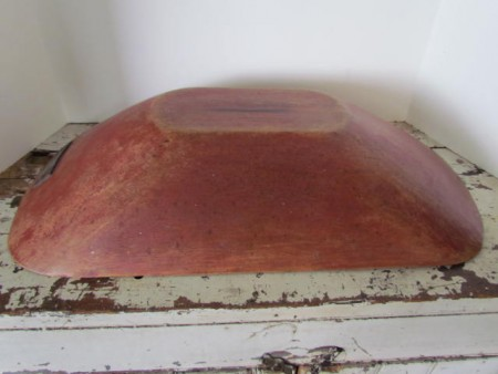 19th. century Red Painted Trencher
