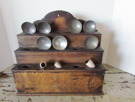 Mid 18th. c. Tiered Spoon Rack/Pipe Rack