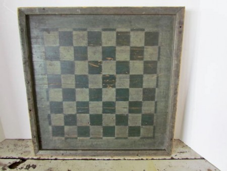 19th. century Green/Green Gameboard