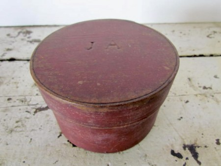 A Small, Top of the Stack, Red Painted Pantry