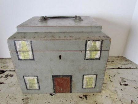 Wonderful 19th. century Folk Art House Box