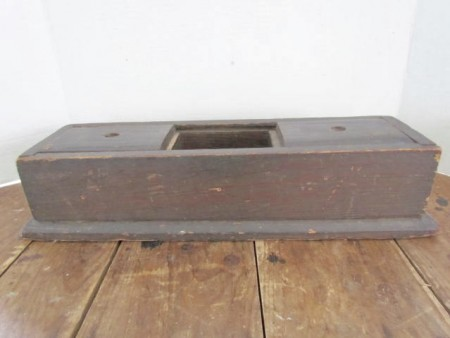 18th. century American Table Top, Double Slide Lid Tea Caddy