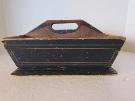 Wonderful 19th. century Painted Cutlery Box/Table Box