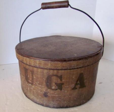 Fabulous Bail Handled Pantry Box, Grain Painted–Original SUGAR