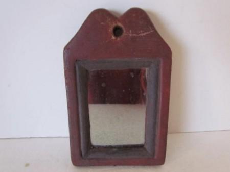 Late 18th. century Queen Ann, Small Mirror