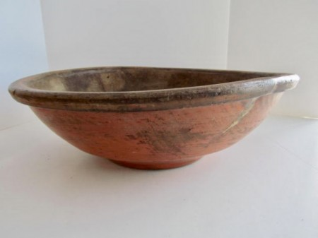 Late 18th. century, Southern Painted Dough Bowl