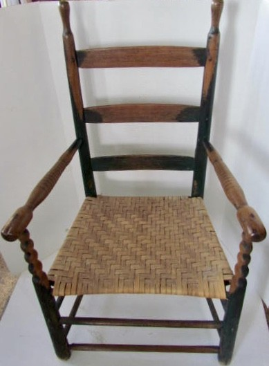 19th. century, Painted Kentucky Arm Chair