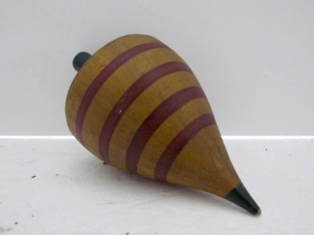 19th. century Child's Spinning Top, Large Size