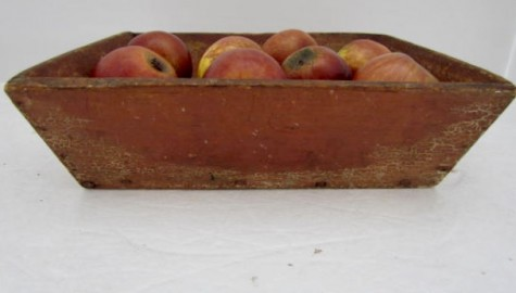 Early 19th. century Red Painted Apple Box