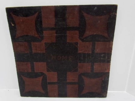 19th. century Game Board, Parcheesi Board