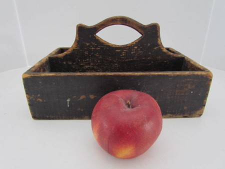 19th. century Painted Table Box, Carrier