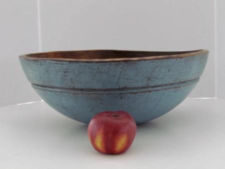 Fabulous 19th. Century Robins Egg Blue, Large dough Bowl