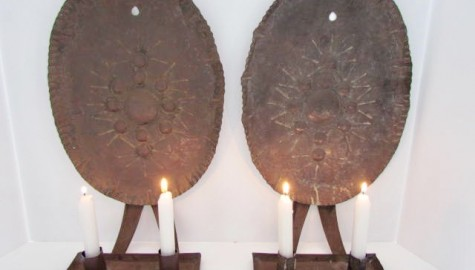 An Outstanding Pair of Early 19th. century Wall, Double  Candle Sconces
