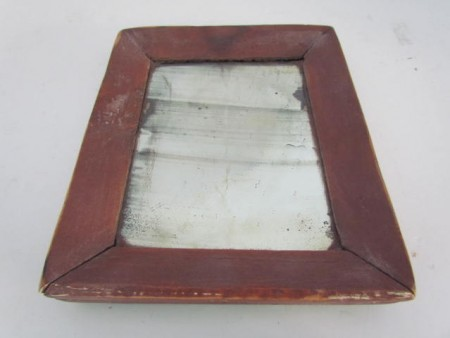 19th. century Mirror, Original Red Paint