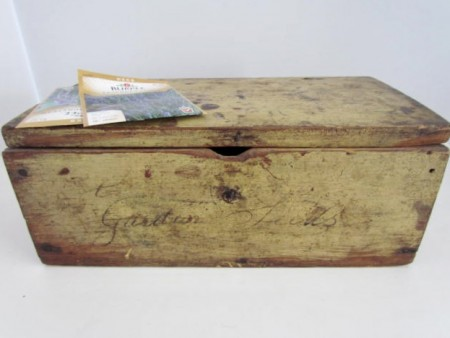 "Early 19th. century ""Garden Seed"" Box, original paint"