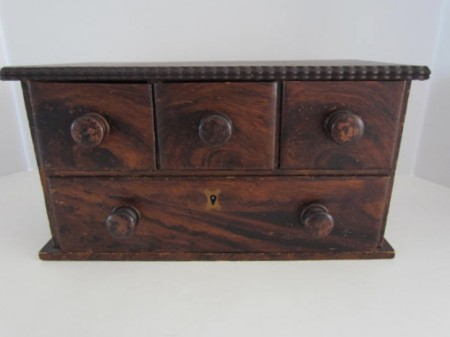19th. century, Grain Painted Apothecary Drawers, Spice Box