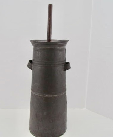 19th. century Tin Butter Churn