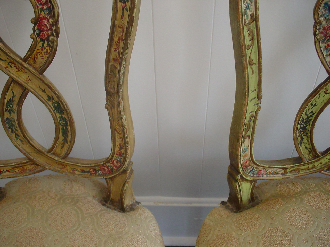 Country French Hand Painted Chairs Roses Art Antiques Michigan - Country french chairs