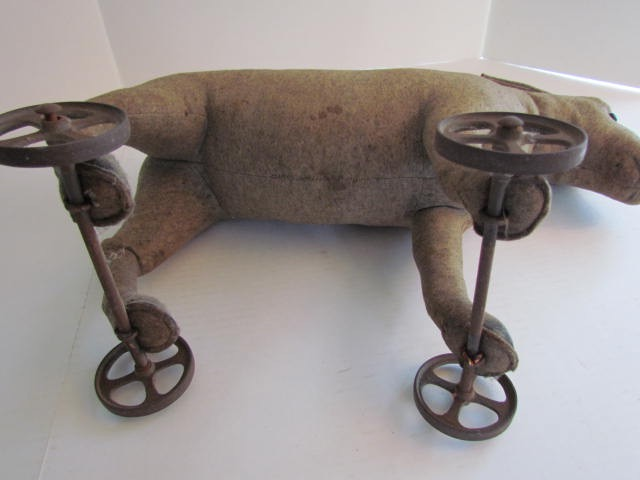 Pre 1904 Steiff Donkey On Wheels Art Antiques Michigan