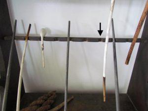 spanish brown painted_pipe rack