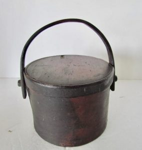 oxblood red_bail handled pantry