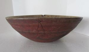 red painted_dough bowl