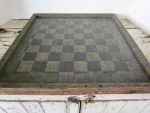 original painted checkerboard