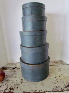 stack of blue pantry boxes