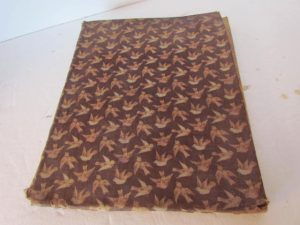 brown calico fabric