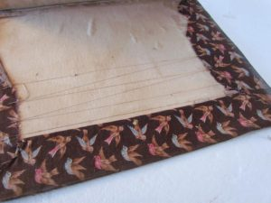 19th. century calico, brown