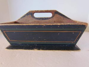blue painted table box