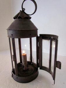 glass panelled lantern