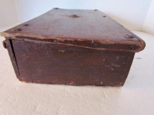 original red painted_table box