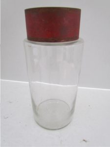 red lidded_apothecary jar