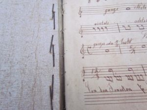 hand stitched music book