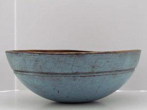 blue painted_dough bowl