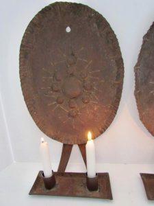 double candle sconces_pair