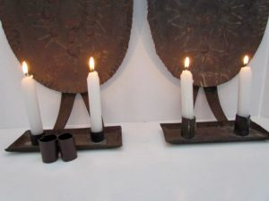 early tin sconces