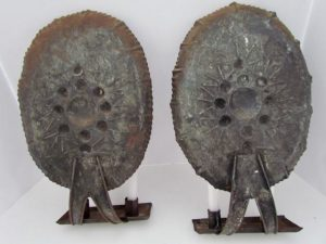 pair of tin sconces_four candles